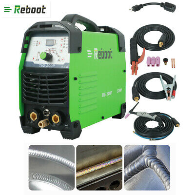 Reboot Tig Pulse Welder Tig200p Ac 220v Steel Welding Mma Tig Welding Machine