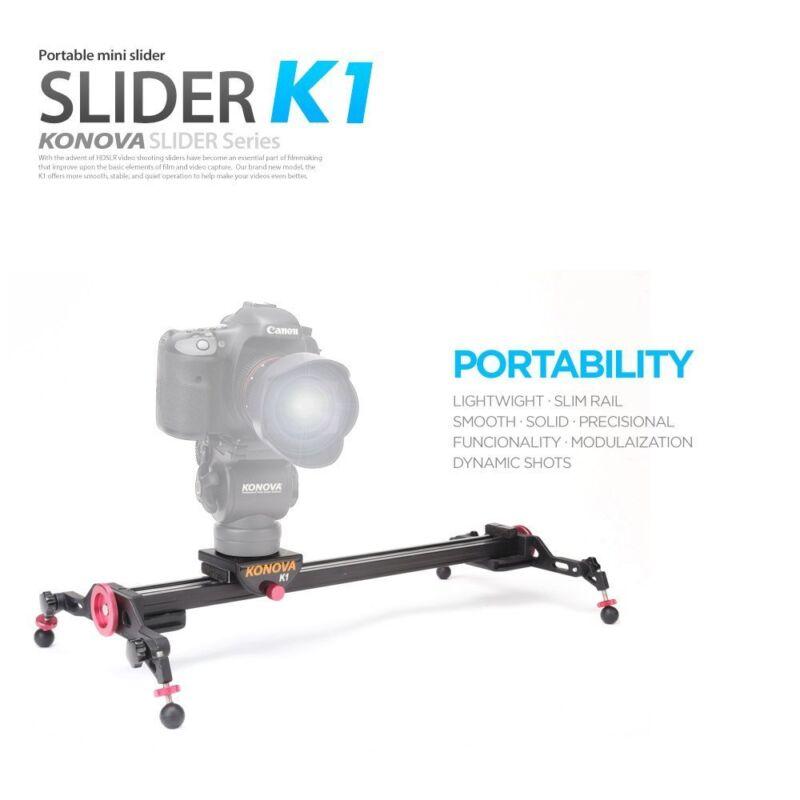KONOVA KNK160 K1-60 Slim Light Portable Horizontal Vertical Moving Camera Rail