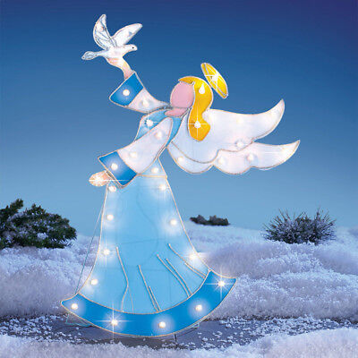 Outdoor Angel Stake Decoration Garden Christmas Ornaments Yard Lighted Figures