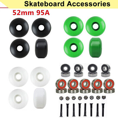 52*32mm Skateboard Longboard 95A Wheels ABEC9 Bearings Scooter Skate Accessories