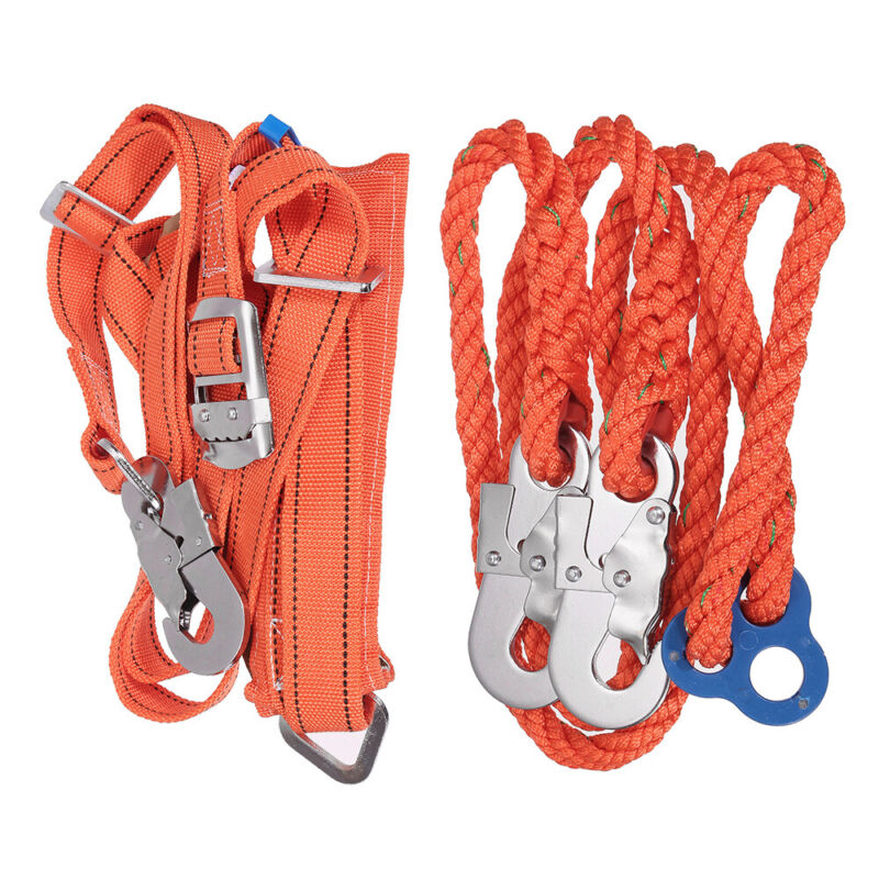 Tree Climbing Set Sharp Hooks Claws w/ Safety Belt & Rope Kit