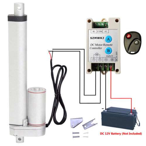 """14mm/s 1000N 10"""" 12V DC Linear Actuator + Motor Controller For Electric Medical"""