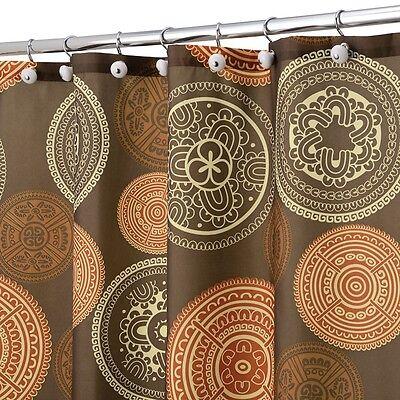 Shower Curtain Bazaar Medallion Brown Orange Spice