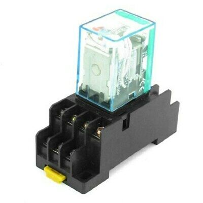 My4nj Hh54p-l Dc 12v Coil 14 Pin 4pdt Power Relay With Socket Base