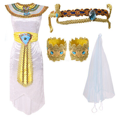 CHILDS EGYPTIAN QUEEN OF NILE COSTUME CLEOPATRA HISTORICAL BOOK DAY FANCY DRESS