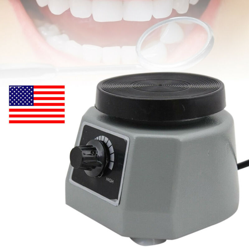 "Dental Model Vibrator Shaker Lab 4"" Round for Mixing Plaster Gypsum etc. 110V"