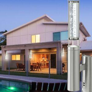 Edelstahl Außen Wand Leuchte mit Bewegungsmelder Sensor Luft Blasen Haus Lampe
