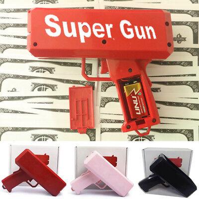 Super Money Launch Gun Cash Launcher In Box Toy Gift Make it rain Party Game