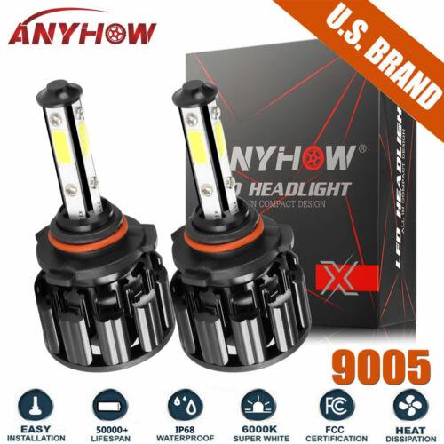 9005 HB3 4-sides LED Headlights Bulb Hi/Lo Super Bright 6000