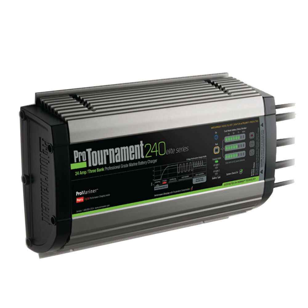 ProMariner Marine Battery Charger ProTournament 240 Elite Series 24-Amp 3-Bank