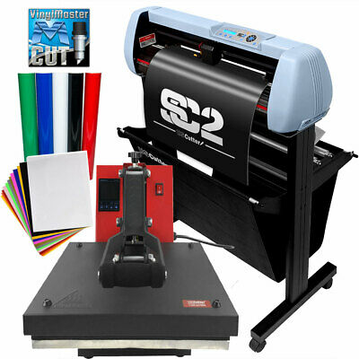 Bundle 34 Sc2 Vinyl Cutter15x15 Digital Heat Press Machine Htv Sign Vinyl