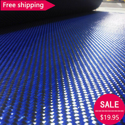 Carbon Fiber Blue Kevla 70cm Wide Mixed Fabric Carbon Aramid Cloth 200gsm