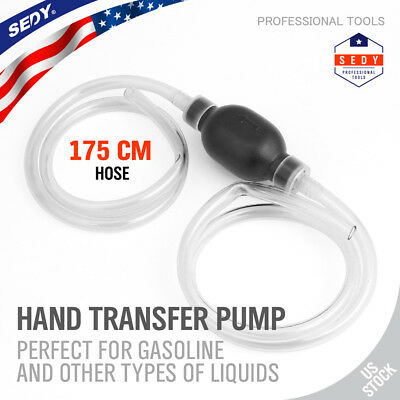 Largest Manual Hand Siphon Syphon Transfer Pump Fluid Liquid Water Gas Gasonline