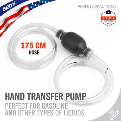 Largest Manual Hand Siphon Syphon Transfer Pump Fluid Liquid Water Gas Gasonline
