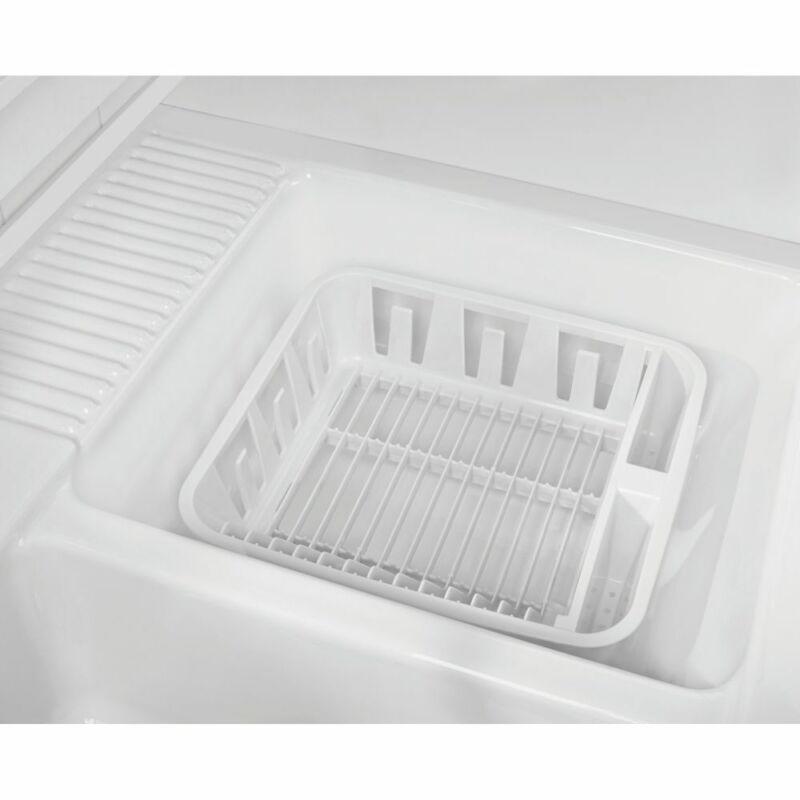 "Rubbermaid FG6049ARWHT White Plastic 14"" Dish Drainer"