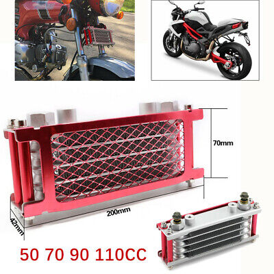 1*Engine Oil Cooler Radiator For 50 70 90 110CC Dirt Bike Racing Motorcycle ATV