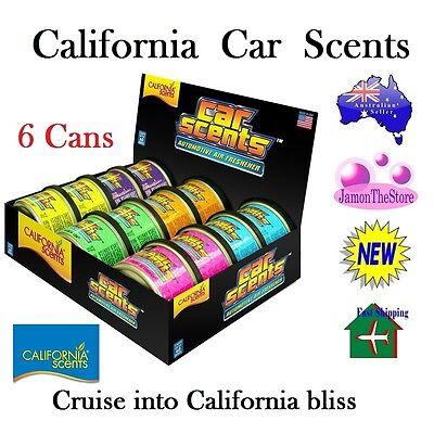 California Scents Car Air Freshener Deodoriser 6 Cans Many Fragrance Last 60days Image