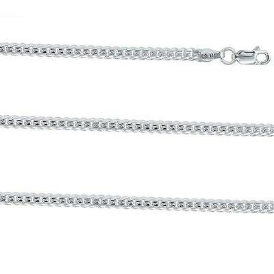 Sterling Silver Miami Cuban Curb Link Chain Necklace Domed Surface, 2mm & 3.5mm Dome Sterling Silver Necklace