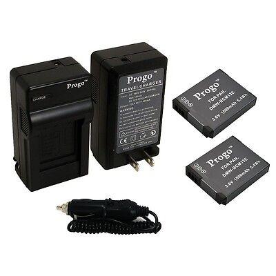 2 Battery + Charger For PANASONIC LUMIX DMW-BCM13E DMC-ZS30 DMC-TS5 DMW-BCM13PP