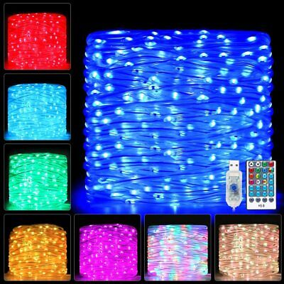 Rope Lights 66ft 200 LED Colors Changing Outdoor String Fairy Twinkle Strip Tube