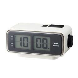 BRUNO Retro LCD Digital Flip Desktop Alarm Clock S White