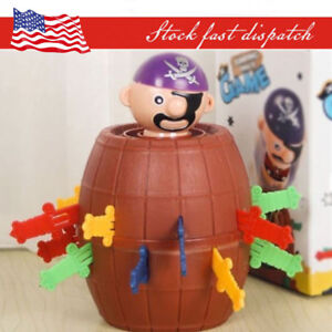 Kids Super Pop Up Toy Jumping Pirate Board Game Lucky Funny Tricky Family Toy US