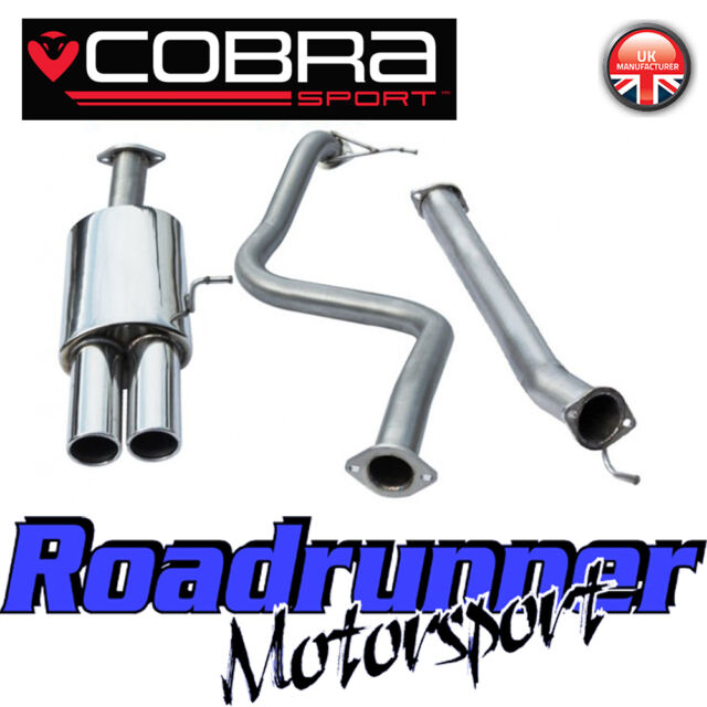 """FD51 Cobra Sport Fiesta ST180 MK7 Exhaust System Cat Back 2.5"""" Non Res Twin Tail"""