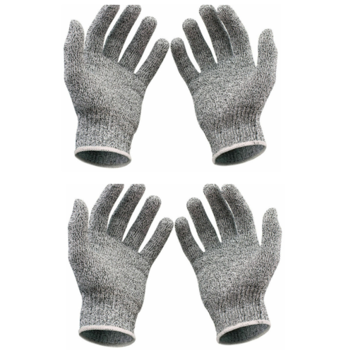 2 Pairs Safety Cut Resistant Stainless Steel Wire Metal Mesh Butcher Glove Business & Industrial