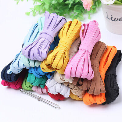 String Trim (10M 6mm Multi Color Elastic Satin Spandex String Band Rope Sewing Trim Acces)