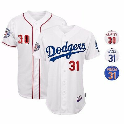 Mike Piazza   Ken Griffey Jr Authentic On Field Jersey Collection By Majestic