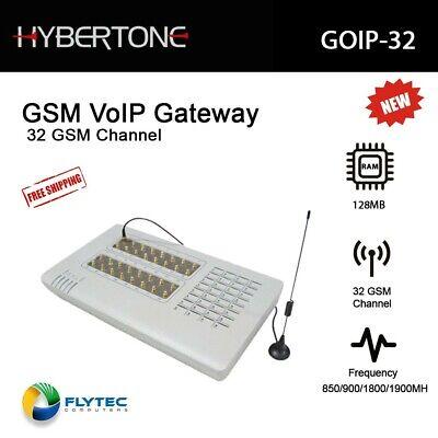 Hybertone VoIP Gateway GSM GOIP-32 w/ External Antenna 4 Channels GSM Quad Band