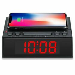ihome Alarm Clock Smart Phone Charger Wireless Loud Non Ticking USB Clocky Wake