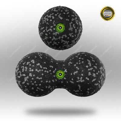 Original BLACKROLL Ball 8 cm + DuoBall 8 cm (Höhe) Massageball-Set Bälle Massage
