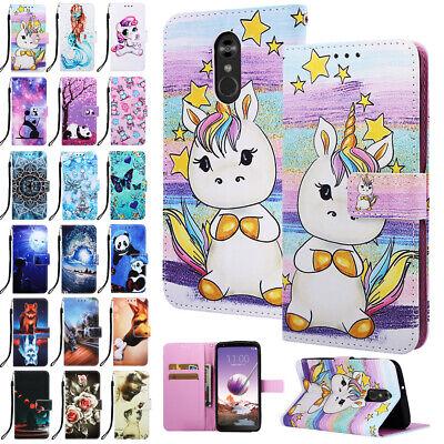 For LG Stylo 4/K8 2018 Phone Cover Flip Case Pattern Holder