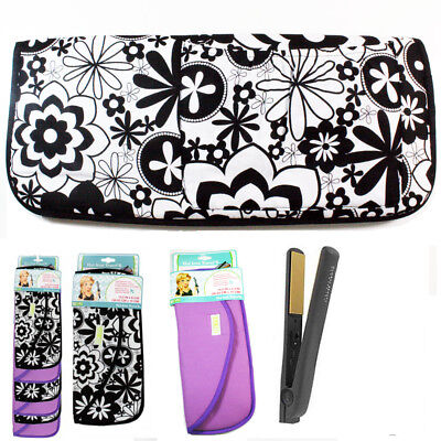 """2 pc Hot Iron travel case clip strip curling heat resistant lining 14.5"""" x 6.3"""""""