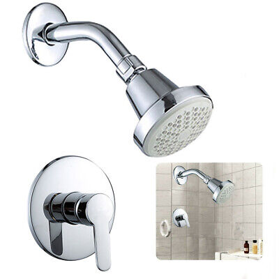 1/2′′ Spray Shower Faucet Kit With Hot/Cold Control Handle Valve Wall Mounted Cold Handle Kit