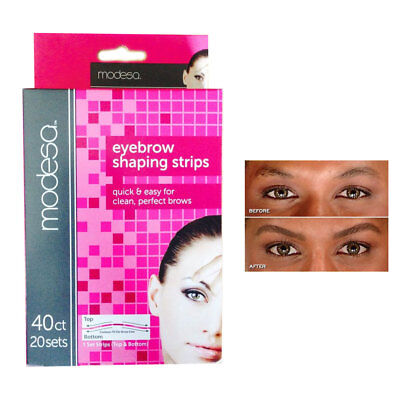 40 Eyebrow Shaping Strips Mini Wax Hair Removal Shapers Face Waxing Smooth Brows