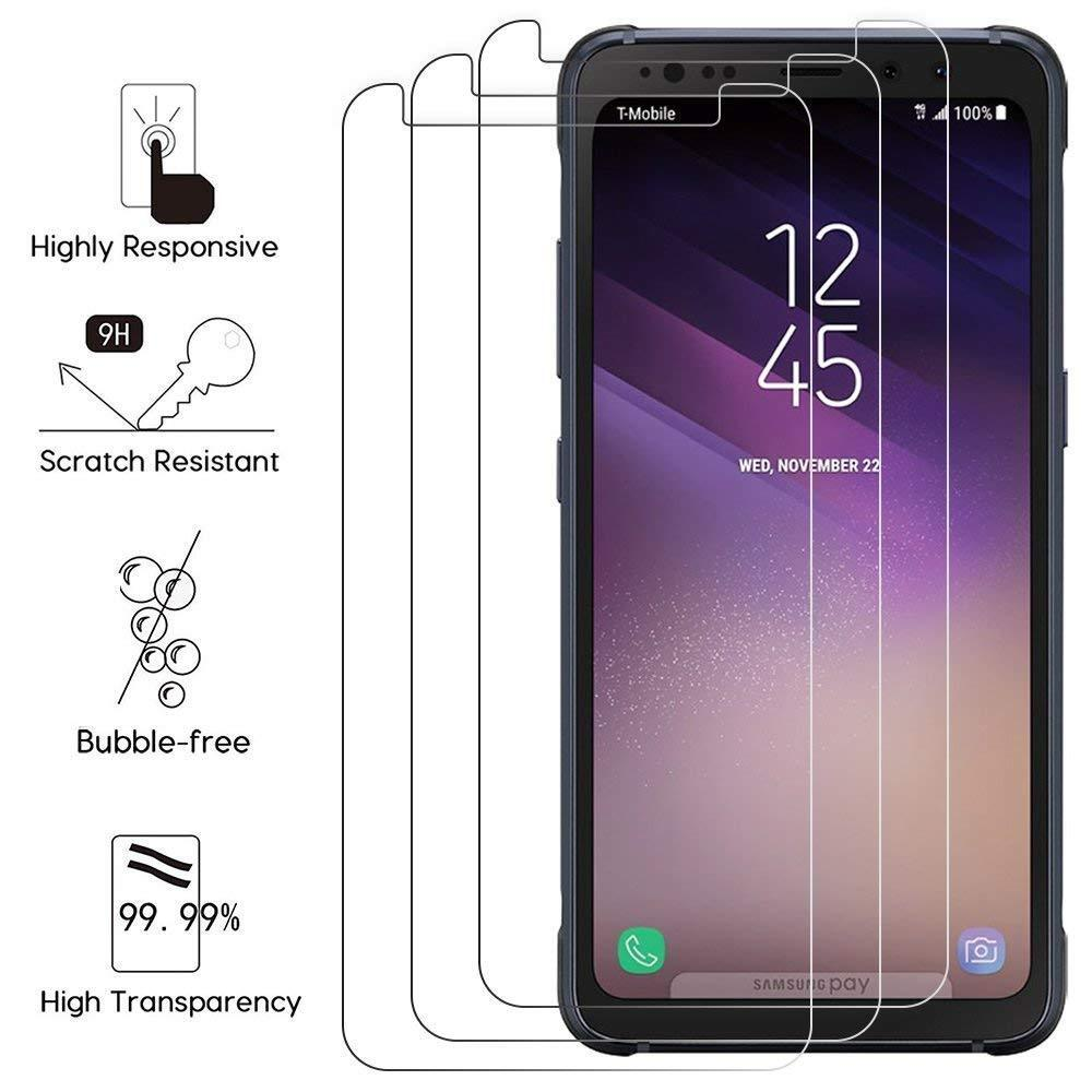 f4b66142a10 Details about [3-PACK] For Samsung Galaxy S8 ACTIVE Tempered Glass Screen  Protector Film hi