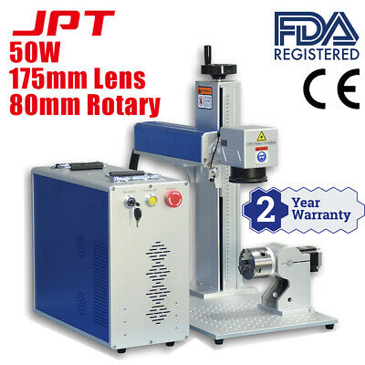 Us Stock Fiber Laser Engraver Laser Marking Machine 50w Jpt With 80mm Rotary