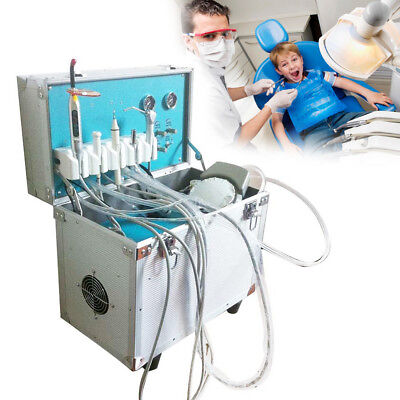Dental Portable Delivery Unit Rolling Casecuring Lightultrasonic Scaler 2 Hole