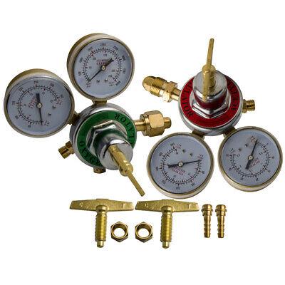 Oxygen Acetylene Regulators Solid Brass Welding Victor Gas Torch Cutting Kit