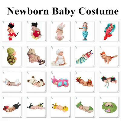 Newborn Baby Girls Boys Crochet Halloween Costume Photo Photography Prop - Halloween Newborn Costumes