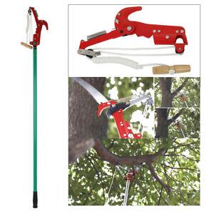 2.6M Telescopic Extendable High Reach Garden Tree Saw Branch Pruner Cut Lopper