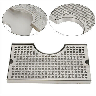 12x7 Surface Mount Beer Drip Tray Tower Drip Tray Stainless Steel No Drain