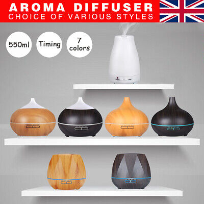 Aroma Diffuser Electric Ultrasonic Air Mist Humidifier Purifier Colors LED Light