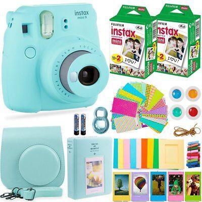 FujiFilm Instax Mini 9 Instant Camera + 40 Fuji Film + Full