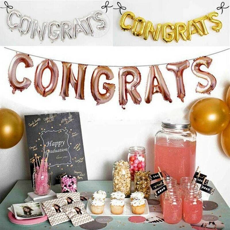 Toys Congratulation Ball CONGRATS Foil Balloons  Graduation Party Decoration