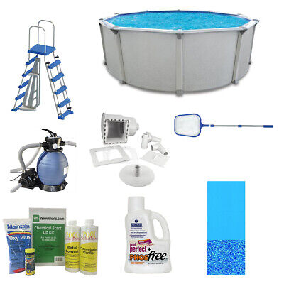 "Cornelius Fuzion 18' x 52"" Above Ground Swimming Pool w/Pump, Ladder & Supplies"