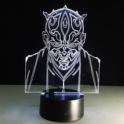 Night Light Lamp Acrylic 3D Christmas Star Wars Jedi Knight Home Hot Decoration
