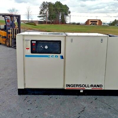 Used 50 Hp Ingersoll Rand  Rotary Compressor Enclosed